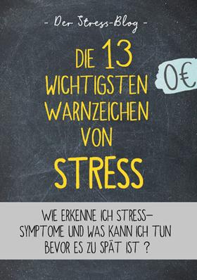 Die 13 wichtigsten Warnzeichen von Stress - Kostenloses PDF